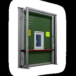 Gastight refrigeration doors